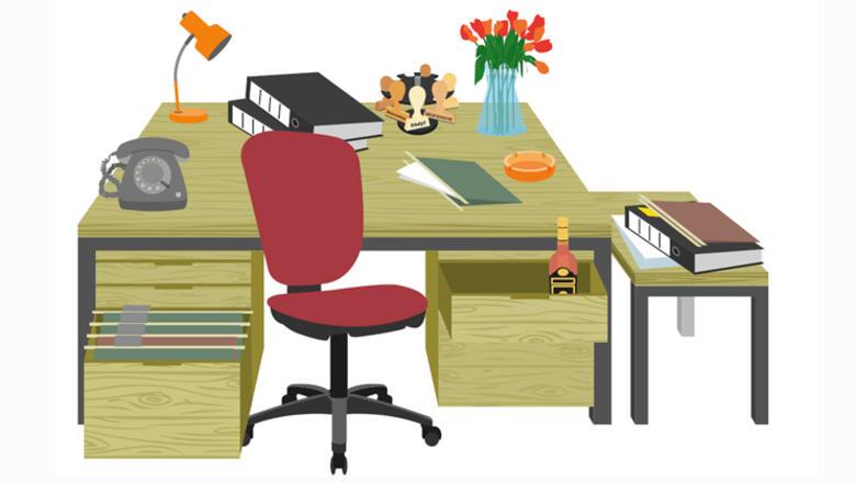 Schreibtisch büro clipart  Büro: Der Schreibtisch im Wandel der Zeit