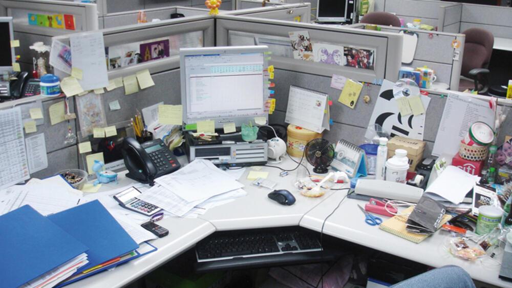 Schreibtischkultur was auf deutschlands schreibtischen steht for Schreibtisch chaos