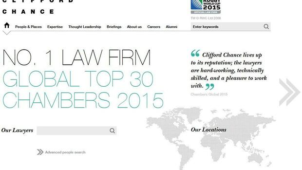 Screenshot Clifford Chance Quelle: Screenshot
