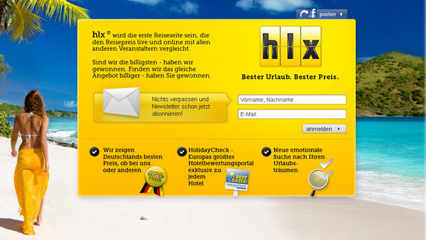 HLX - Start am 7. Dezember 2012 Quelle: Screenshot