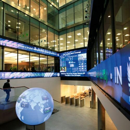 Das Atrium der London Stock Exchange Quelle: REUTERS