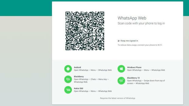 Screenshot der whatsapp-Homepage Quelle: Screenshot