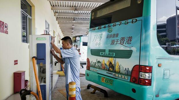Stromtankstelle in Shenzhen Quelle: Bloomberg