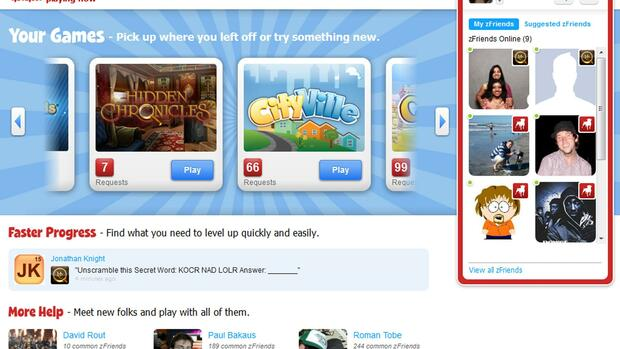 A screen shot of Zynga Inc.'s website Quelle: Reuters