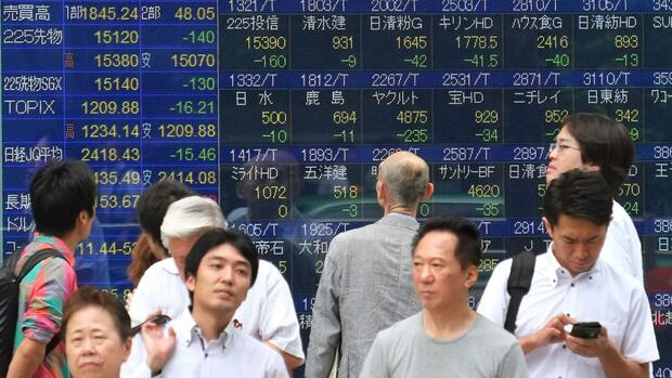Kurse in Japan brechen in