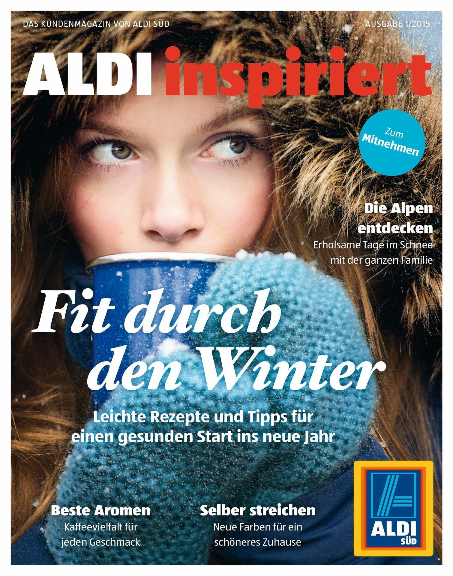 """Kundenmagazin """"Aldi inspiriert"""": Aldi macht auf Lifestyle"""