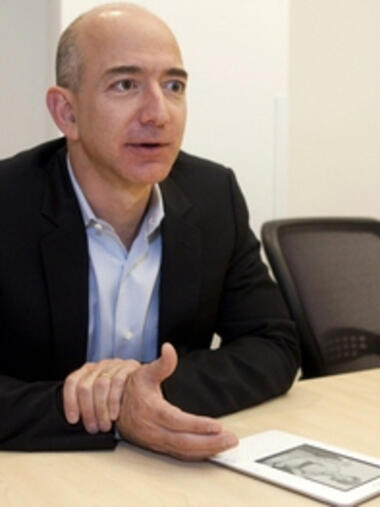 Amazon.com-Chef Jeff Bezos mit Quelle: REUTERS