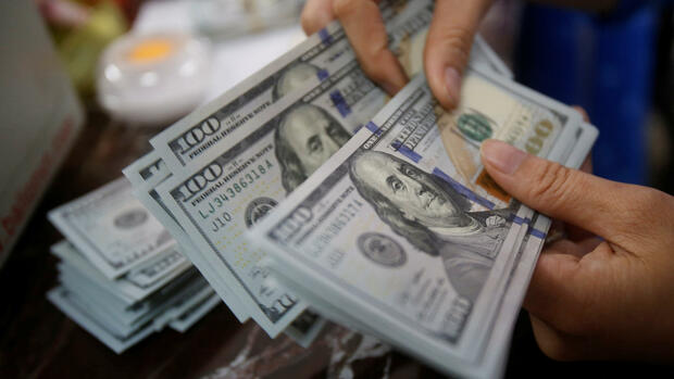 US-Dollar Banknoten Quelle: REUTERS