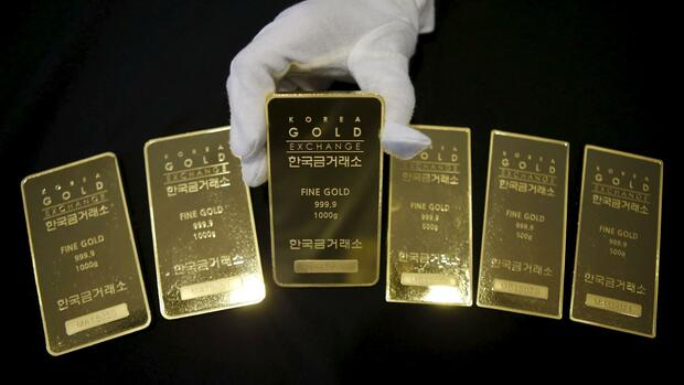Goldbarren in Korea. Quelle: REUTERS