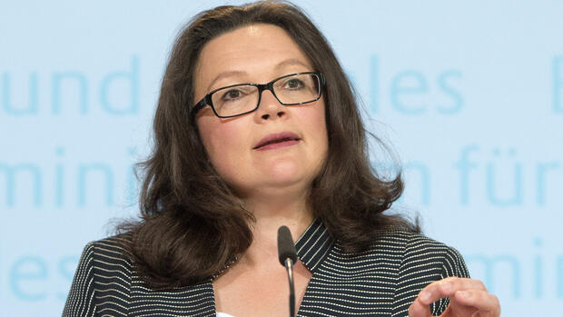 Bundesarbeitsministerin Andrea Nahles. Quelle: dpa