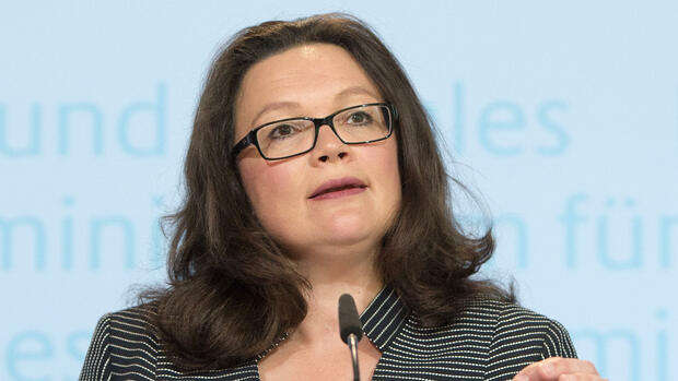 Bundesarbeitsministerin Andrea Nahles Quelle: dpa