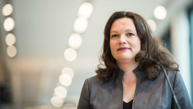 Bundesarbeitsministerin Andrea Nahles (SPD). Quelle: dpa