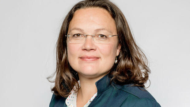 Bundesarbeitsministerin Andrea Nahles (SPD) Quelle: dpa