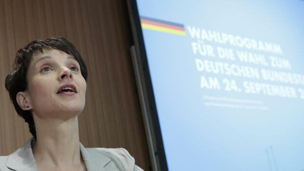 AfD-Chefin Frauke Petry Quelle: REUTERS