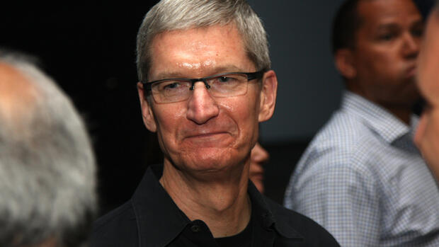 Apple-Chef Tim Cook Quelle: dpa