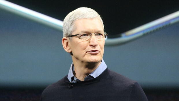 Apple-Chef Tim Cook. Quelle: dpa