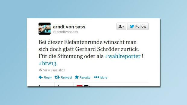 http://twitter.com/arndtvonsass/ Quelle: Screenshot
