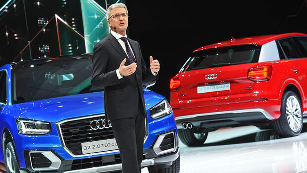 Audi-Chef Rupert Stadler will auf dem Genfer Autosalon. Quelle: dpa/Picture-Alliance