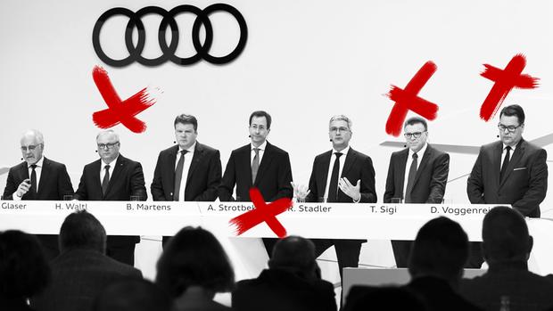Audi bestätigt den Tausch von vier Vorständen