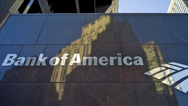 Das Logo der Bank of America in Boston, Massachusetts Quelle: dpa