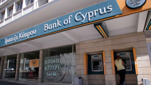 Bank of Cyprus Quelle: dpa