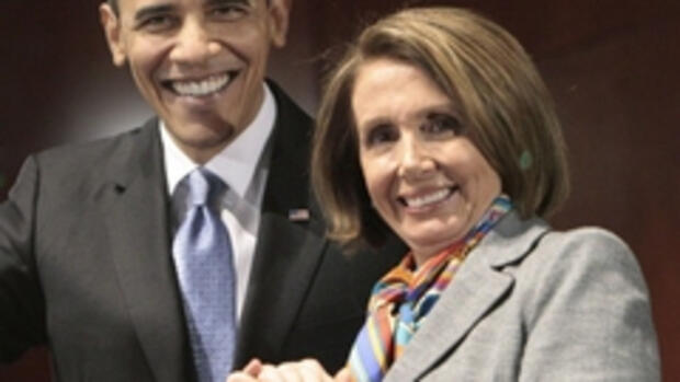 Barack Obama und Nancy Pelosi Quelle: AP