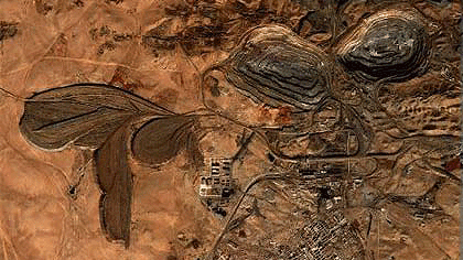 Bayan Obo Mine in der Mongolei Quelle: Google