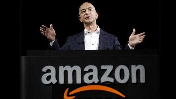 Amazon-Chef Jeff Bezos Quelle: AP, Montage