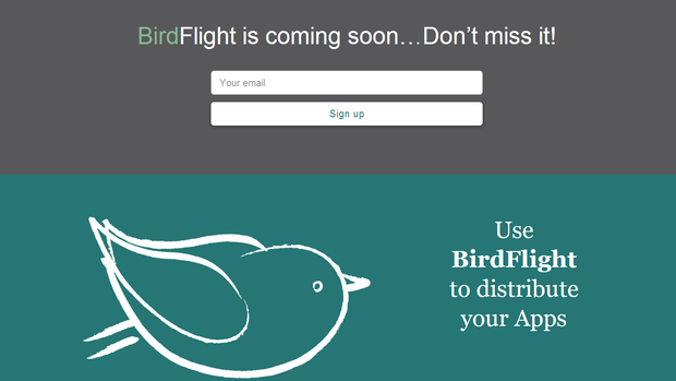 Screenshot des neuen Dienstes Birdflight.