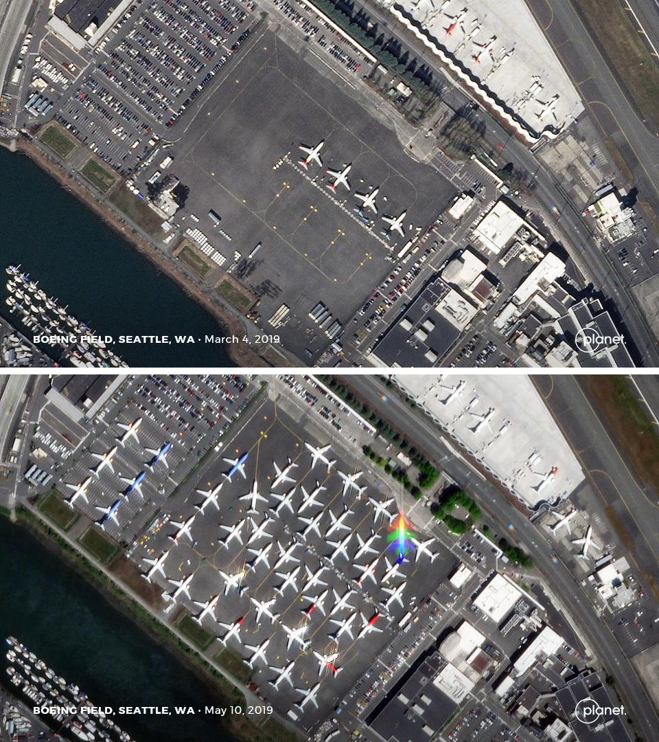 Satellitenbild Boeing
