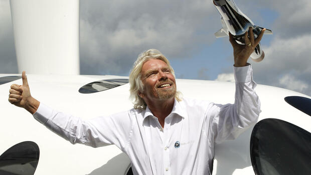 Sir Richard Branson Quelle: dapd