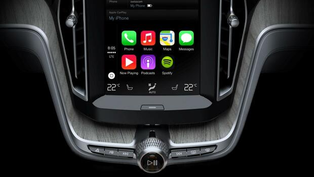 Apple CarPlay Quelle: Volvo