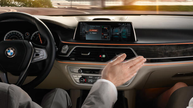 CES 2016: BMW-Connected Drive. Quelle: Presse