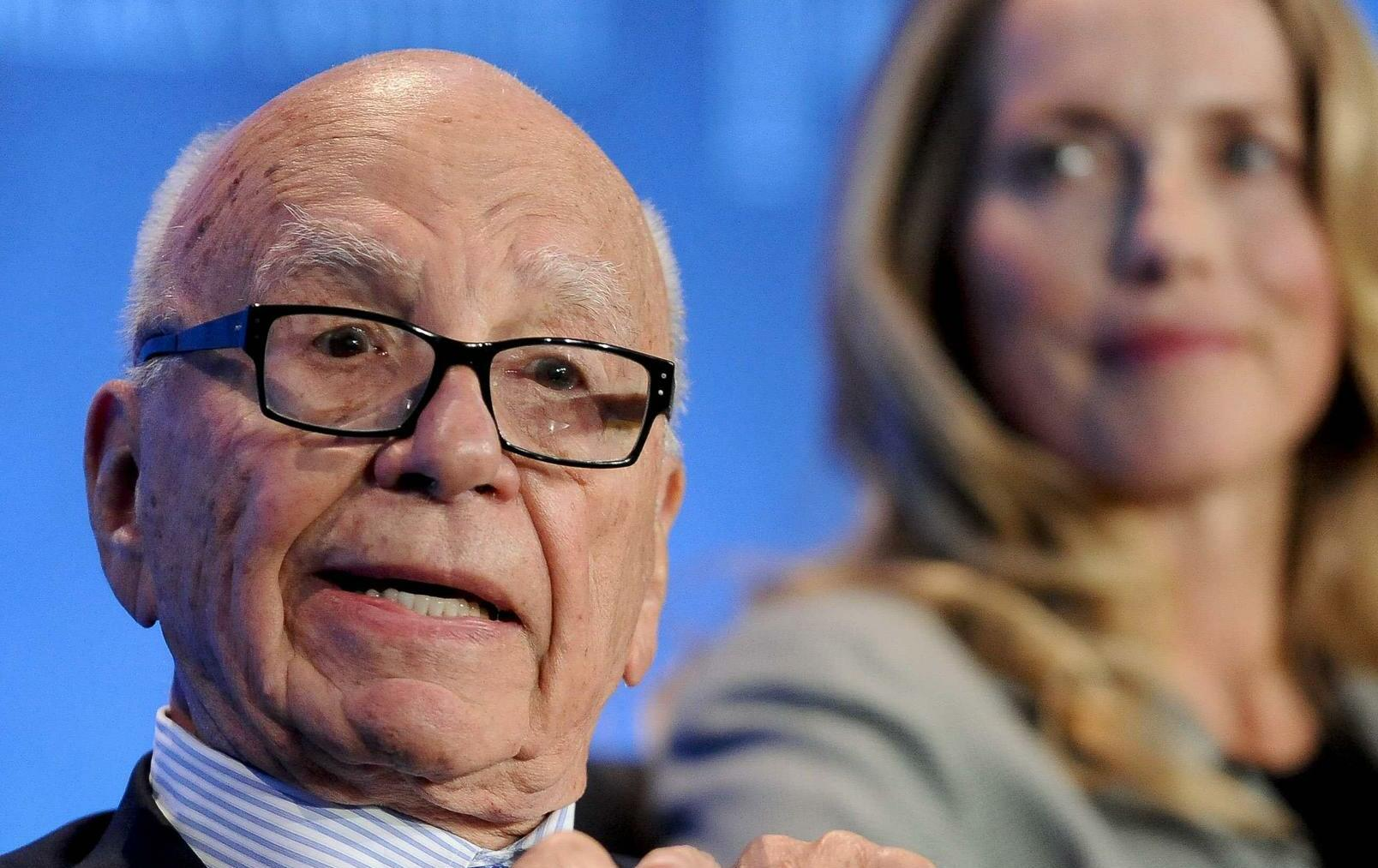Rupert Murdoch und Laurene Powell Jobs Quelle: REUTERS