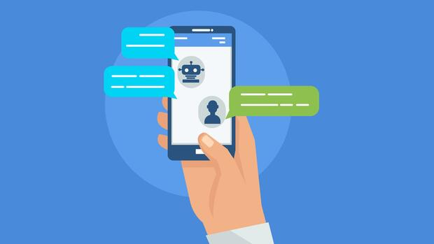 Chatbot auf einem Handy Illustration Quelle: Fotolia