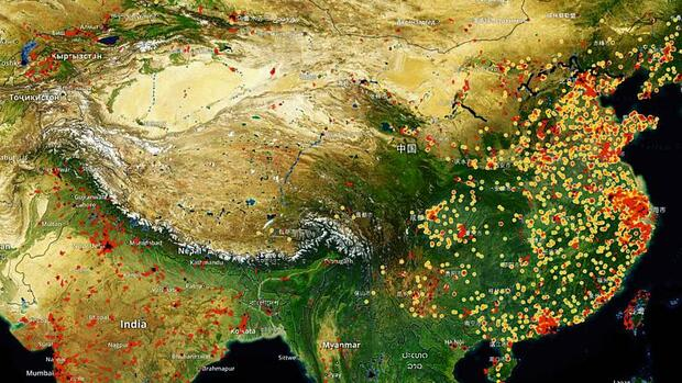 Satellitenbild von China Quelle: Spaceknow China Satellite Manufacturing