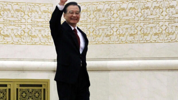 Chinas Staatschef Wen Jiabao. Quelle: REUTERS