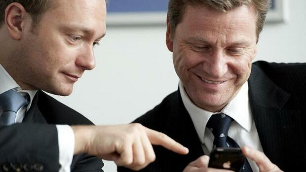 Christian Lindner, Guido Westerwelle Quelle: dpa