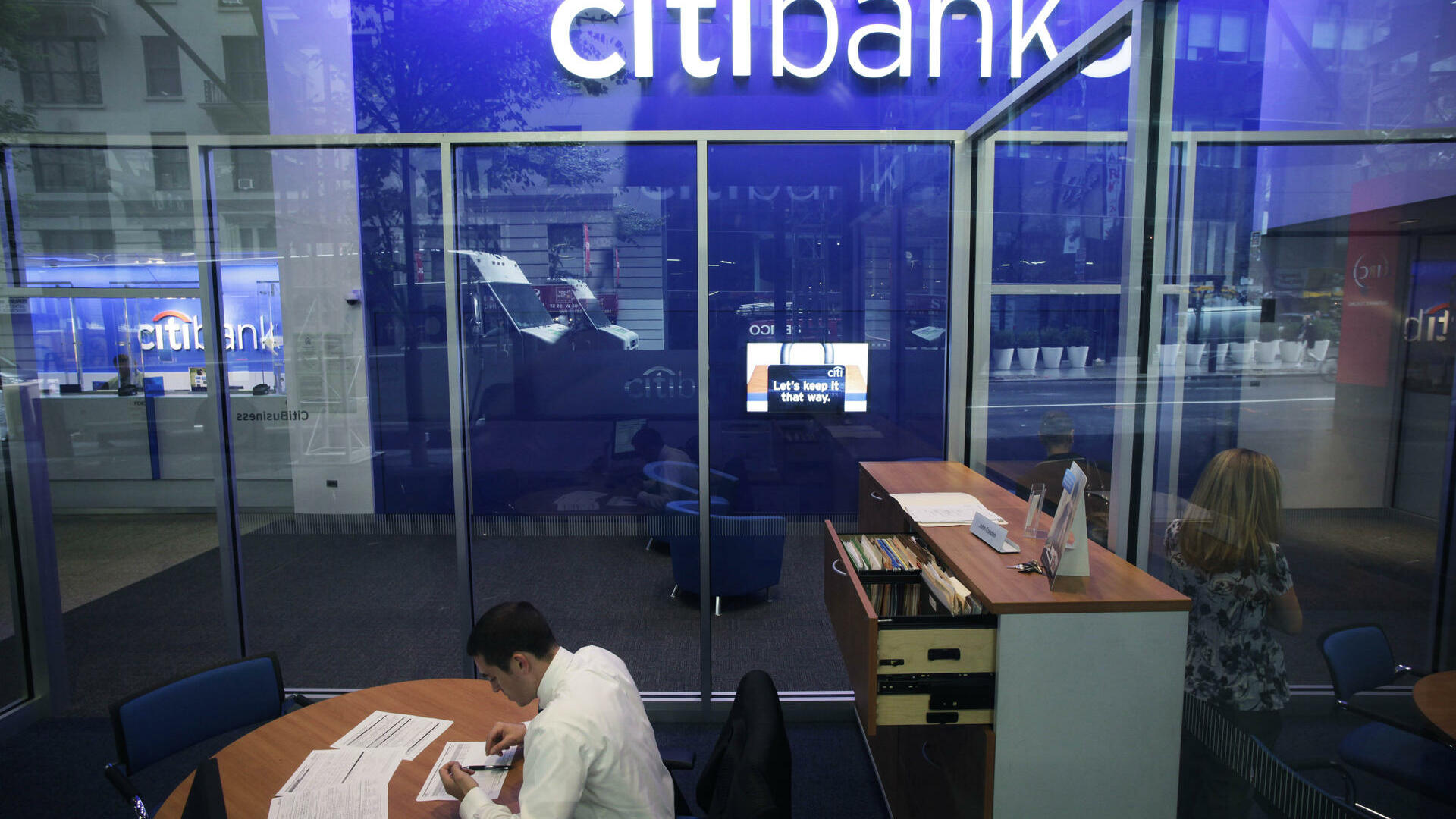 a Citibank branch in New York Quelle: dapd