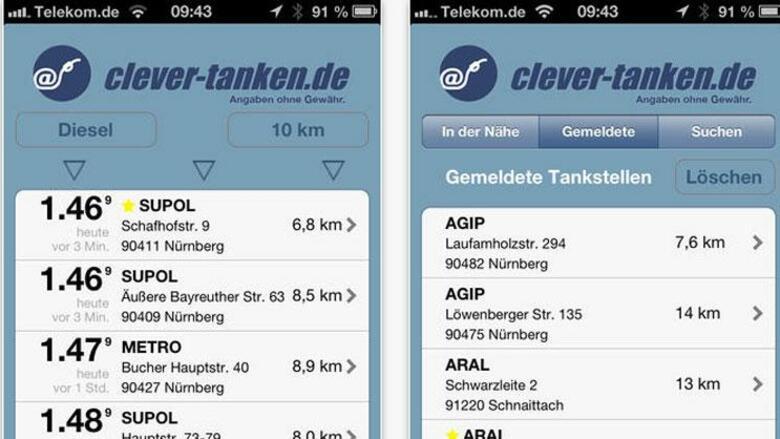Tankstellenvergleich app