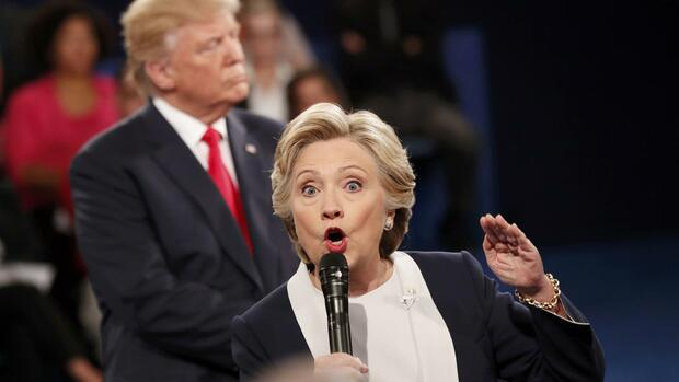 Donald Trump (links), Hillary Clinton (rechts) Quelle: REUTERS