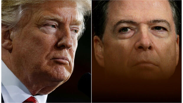 Donald-Trump-und-James-Comey Quelle: REUTERS