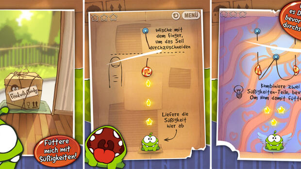 Cut The Rope HD Quelle: Screenshot
