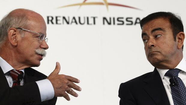 Dieter Zetsche und Carlos Ghosn Quelle: REUTERS
