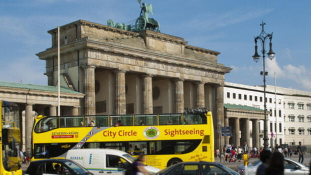 Das Brandenburger Tor in Quelle: dapd