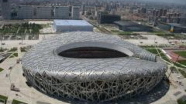 Das Nationalstadion in Peking, Quelle: AP