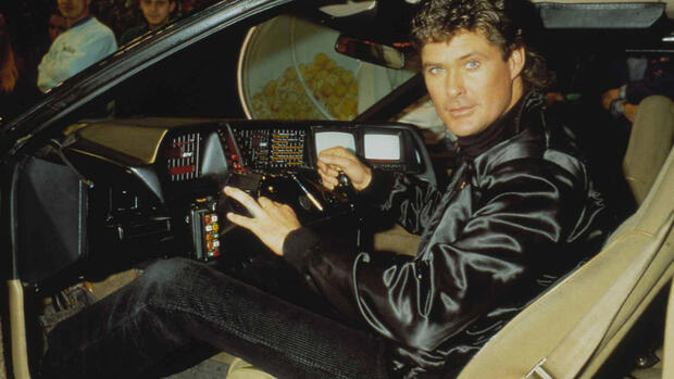 "David Hasselhoff als ""Michael Knight"" in der Serie ""Knight Rider"" Quelle: dpa"