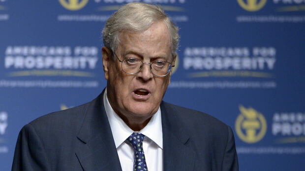 Platz 6: David Koch mit 48,5 Milliarden Dollar Quelle: AP