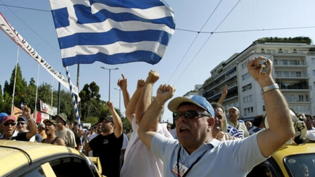 Demonstration in Athen, Quelle: dapd