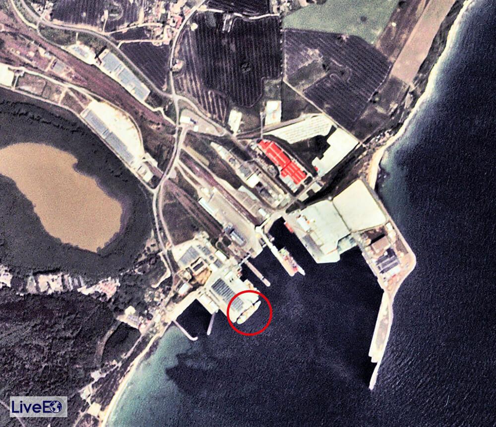 Russisches Verlegeschiff Akademik Cherskiy